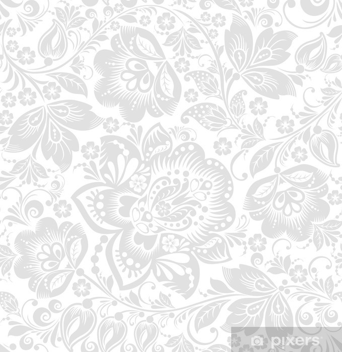 Papier peint vinyle Vecteur de fond transparente floral - Styles