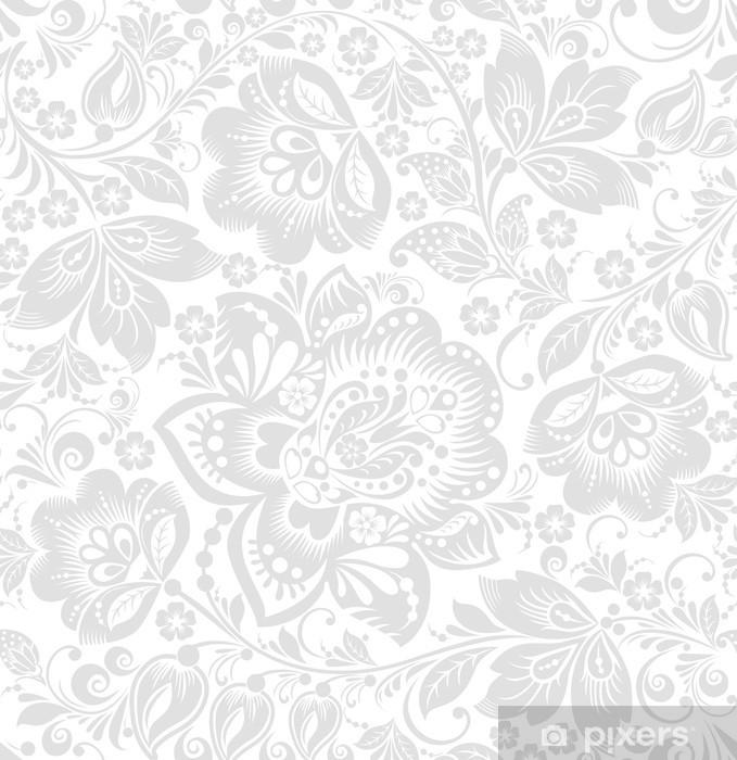 Sticker Pixerstick Vecteur de fond transparente floral - Styles