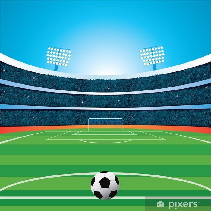 Plakat Stadion piłkarski - Sporty drużynowe