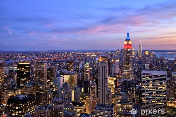 Naklejka Pixerstick Nowy Jork Midtown z empire state building o zmierzchu - Tematy