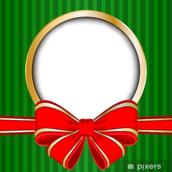 Carta Da Parati Cornice Di Natale Con Fiocco Rosso E Lo Spazio Per