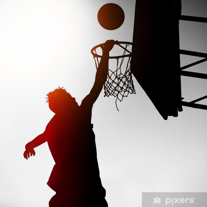 Vinilo Pixerstick Silueta de Baloncesto Jugador - Baloncesto