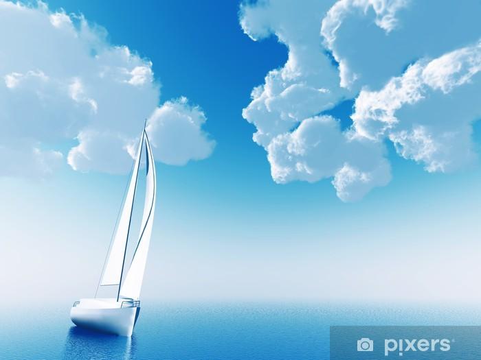 Nálepka Pixerstick Plachetnice cestování na oceán - Roční období