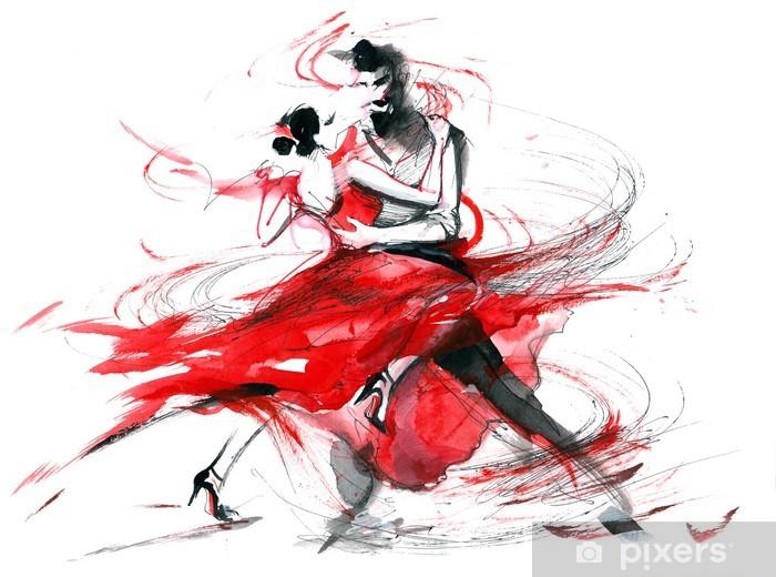 Fototapeta winylowa Tango - Pary