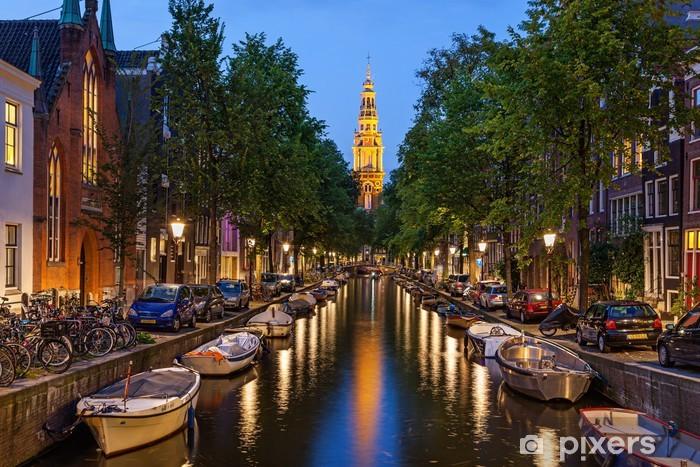 Amsterdam canals Pixerstick Sticker - Themes
