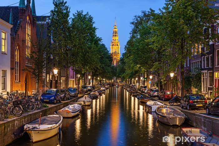 Vinilo Pixerstick Amsterdam canales - Temas