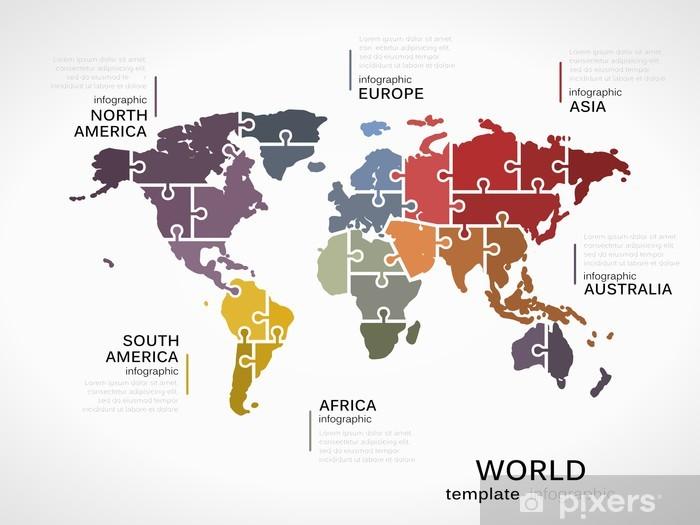 Naklejka Pixerstick Mapa świata - iStaging 2