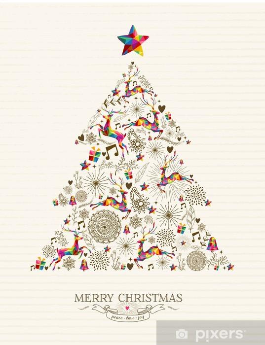 Alberi Di Natale Per Auguri.Carta Da Parati Vintage Albero Di Natale Biglietto Di Auguri Pixers Viviamo Per Il Cambiamento