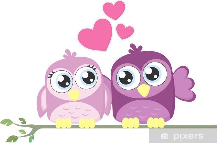 Fotomural De Dibujos Animados Los Pájaros Del Amor Pixers