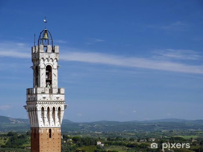 Sticker Pixerstick Torre Palazzo Pubblico, Sienne, Toscane, Italie - Europe