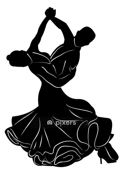 Adesivo da Parete Silhouette di balli di coppia - Altri sentimenti