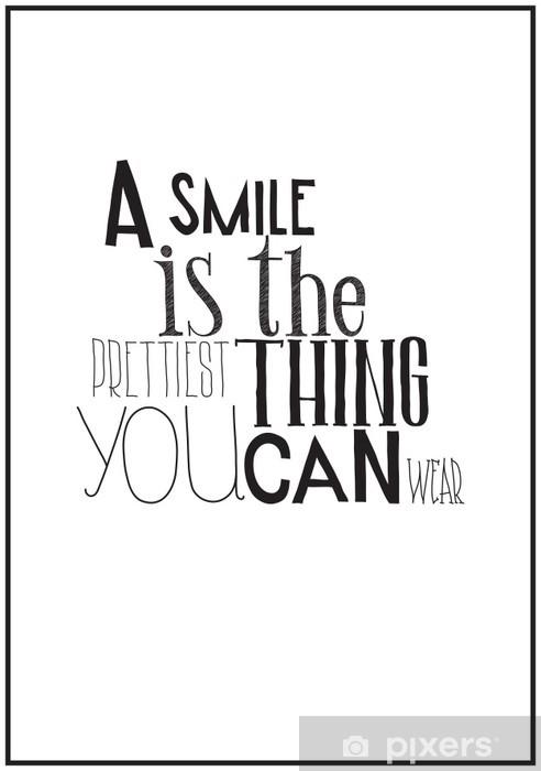 Vinilo Pixerstick Simple cartel en blanco y negro con una frase de motivación -