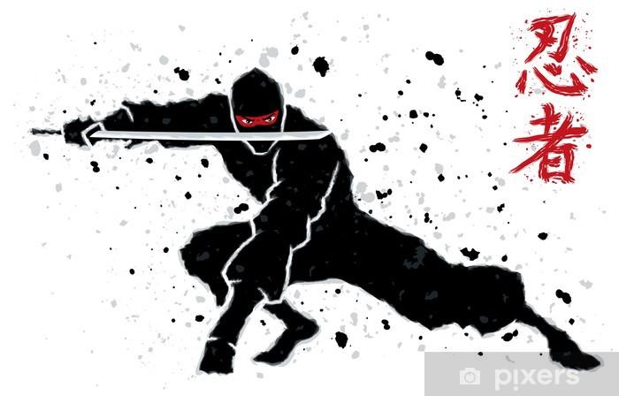 Naklejka Pixerstick Ninja - Karate
