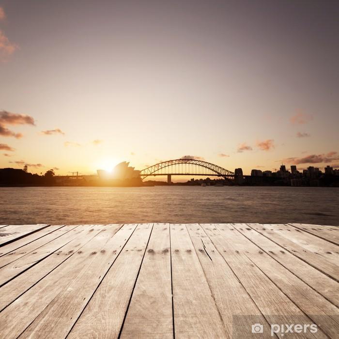 Papier peint vinyle Planche de bois et des sites Sydney - Thèmes