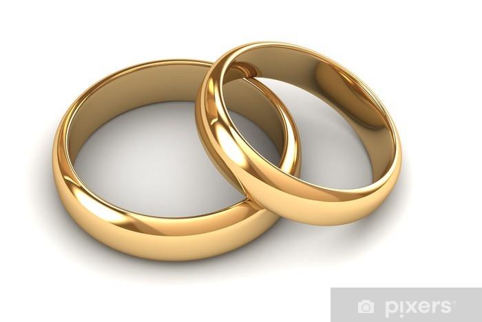 Fototapete Ein Paar Goldene Hochzeit Ringe Pixers Wir Leben Um