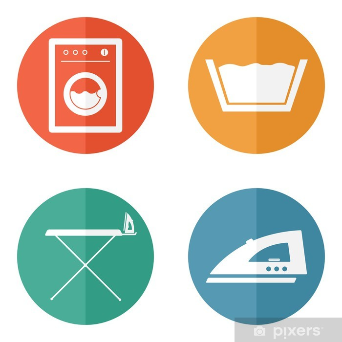 Laundry room icons Vinyl Wall Mural - Signs and Symbols