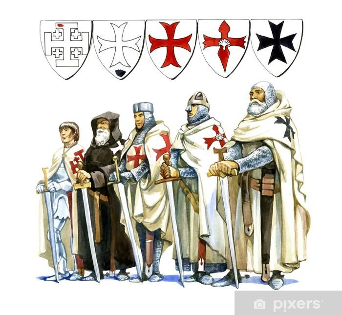 Naklejka Pixerstick Templariusze - Grupy i tłumy