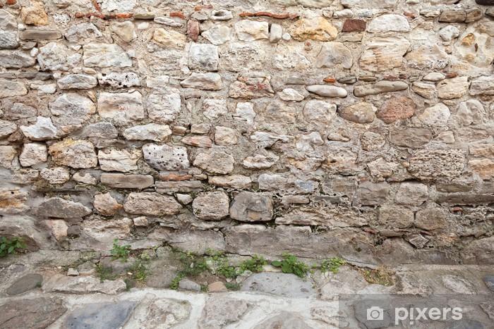Carta da parati sfondo interni texture con antico muro di pietra