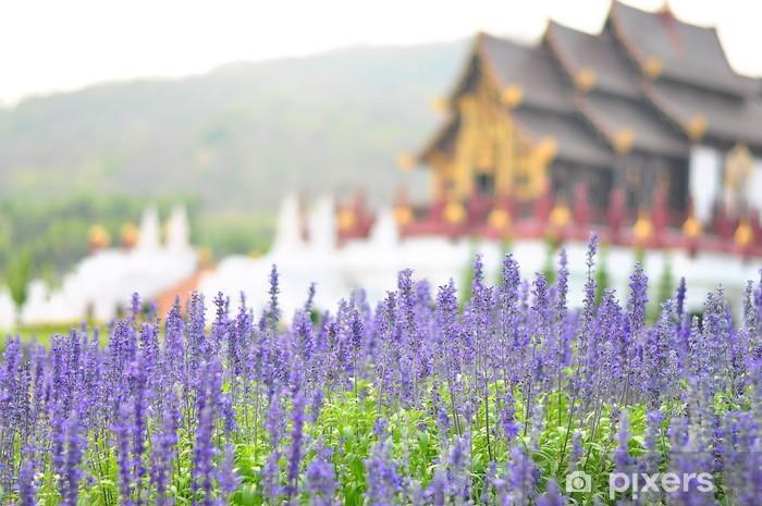 Vinyl-Fototapete Violet Lavendel Blumen - Blumen