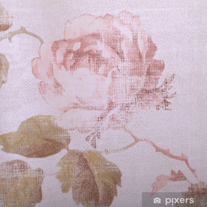 Vintage victorian wallpaper with rose floral pattern close up Vinyl Wall Mural - Styles