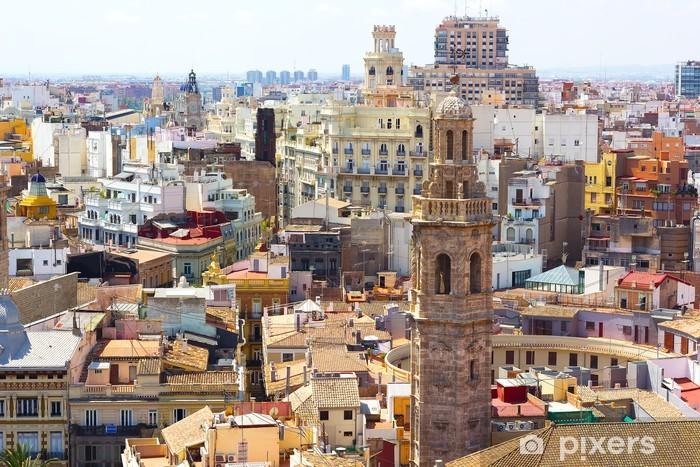 Papier peint vinyle Vue sur la ville de Valence de la tour. - Europe
