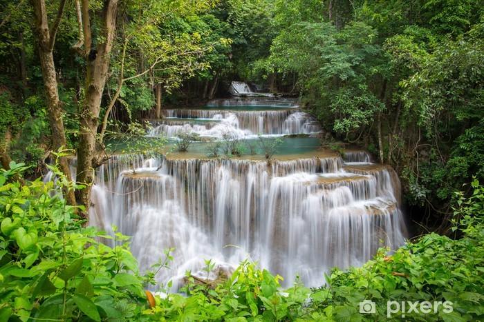 Pixerstick Aufkleber Schönen Wasserfall im Herbst Wald - Themen