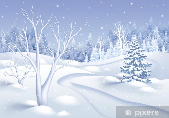 Fototapete Winter Natur Landschaft Abbildung Urlaub Wald