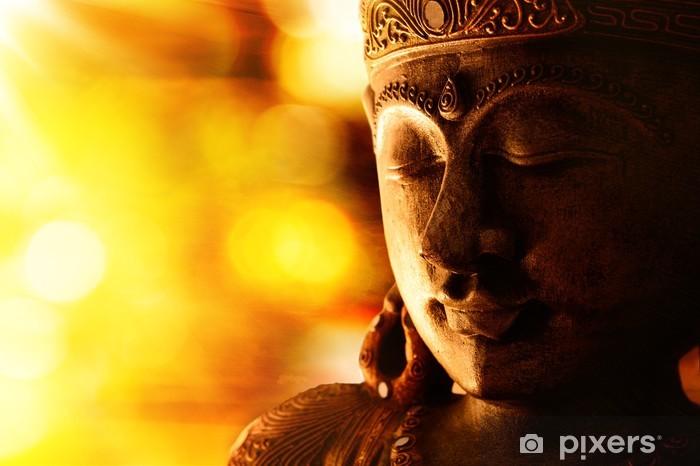 Papier peint vinyle Bronze statue de Bouddha - Styles