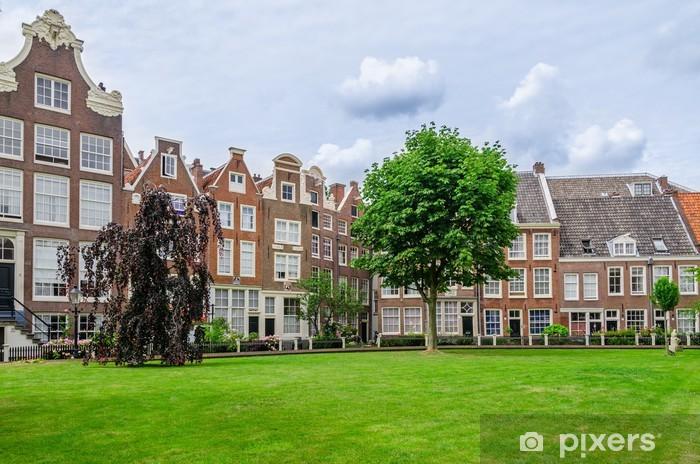 Vinil Duvar Resmi Amsterdam, Hollanda Eski veranda Begijnhof - Avrupa kentleri