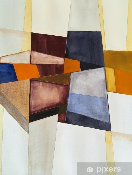 Modernistinen abstrakti akvarelli Pixerstick tarra - Harrastukset Ja Vapaa-Aika
