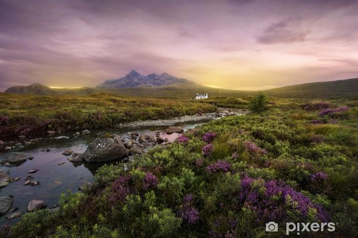 Fototapet av Vinyl Sligachan flod, Skottland - Teman