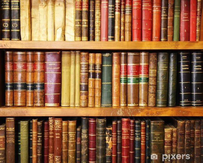 Pixerstick Sticker Oude boeken, boekhandel, bibliotheek - bibliotheek