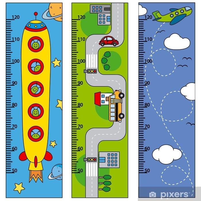 Sticker Pixerstick Mur autocollants enfants de mètre - Dans les airs