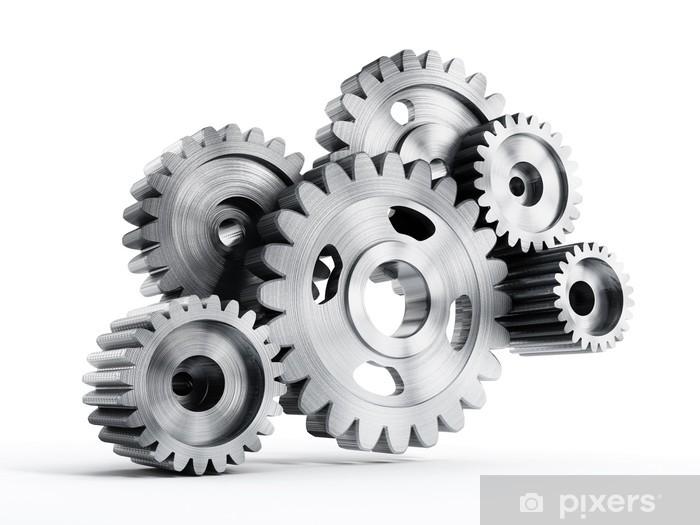 Sticker Pixerstick Gears en mouvement - Industrie lourde