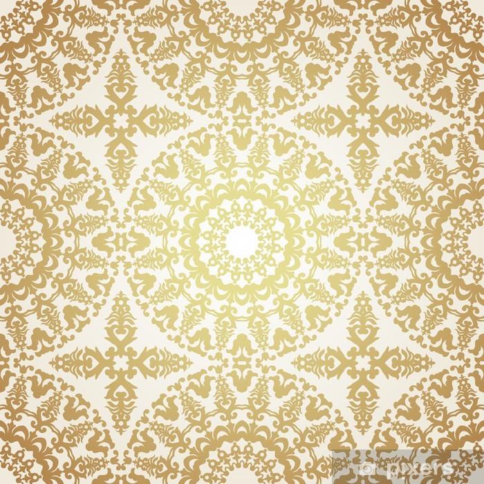 Naklejka Pixerstick Wektor powtarzalny deseń w stylu wiktoriańskim. - Style