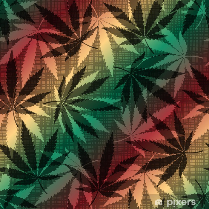 cannabis leaves Vinyl Wall Mural - Addiction