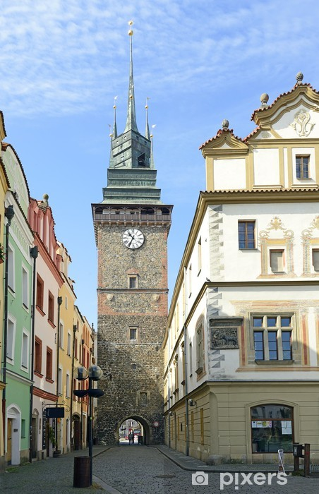 Pixerstick Aufkleber Green Gate, eines der Wahrzeichen von Pardubice, Tschechische Republik - Europa