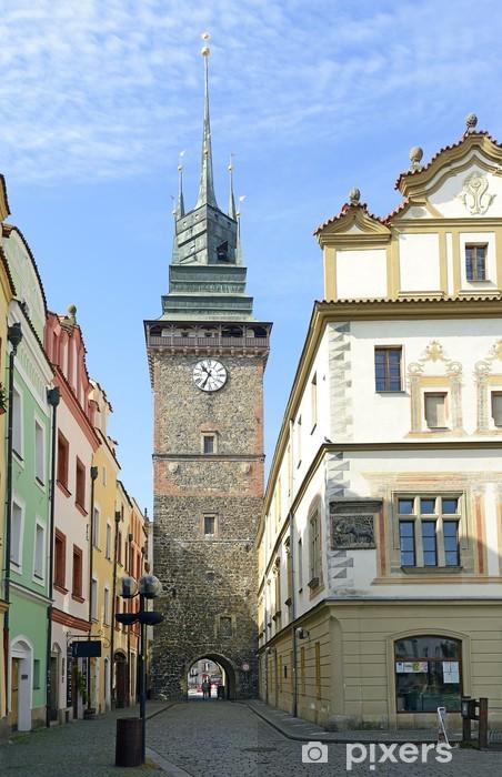 Sticker Pixerstick Green Gate, l'un des symboles de Pardubice, République tchèque - Europe