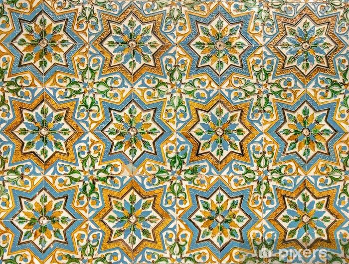 Vinyl Fotobehang Marokkaanse vintage tegel achtergrond - Mozaïek