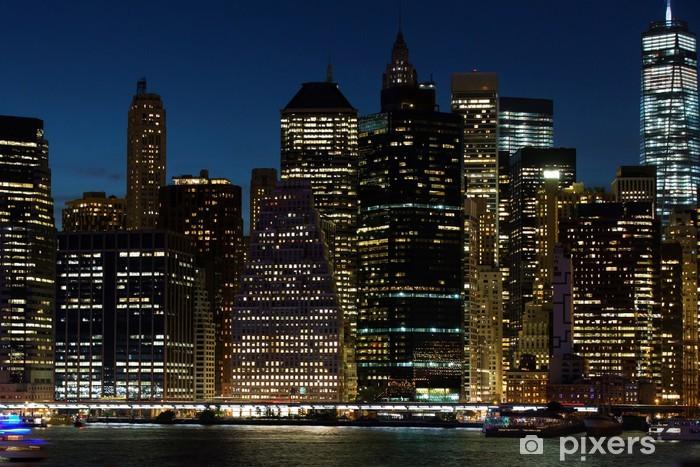 fototapete new york bei nacht