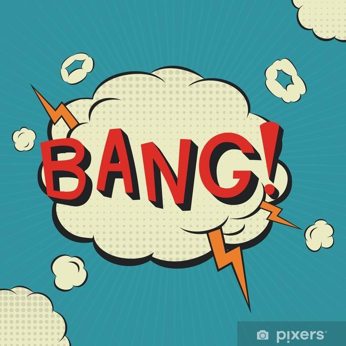 Poster Bang Comic-Sprache-Blase - Themen