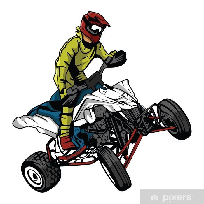 Sticker Pixerstick ATV coureur de moto - Hommes