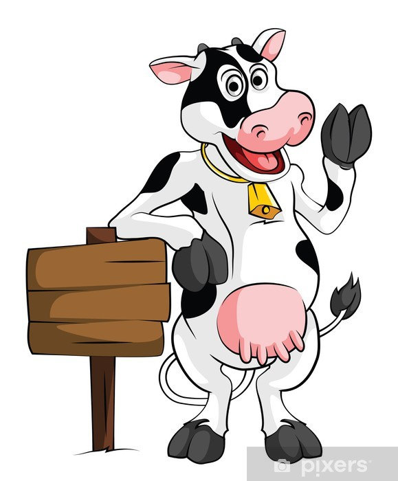 Cow Pixerstick Sticker - Mammals