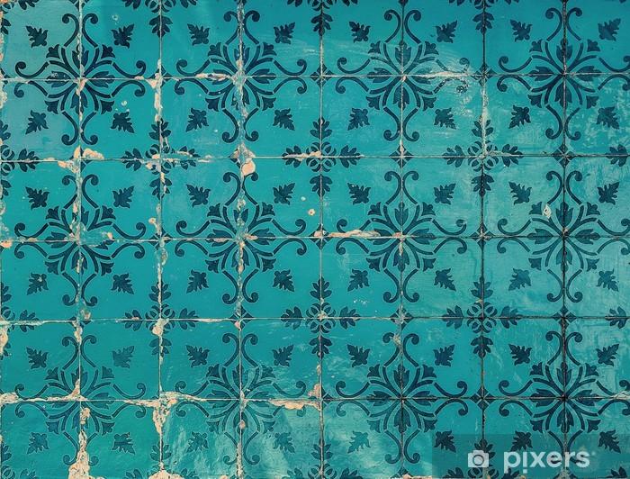 Naklejka Pixerstick Rocznika azulejos, tradycyjne portugalskie płytki - Tematy