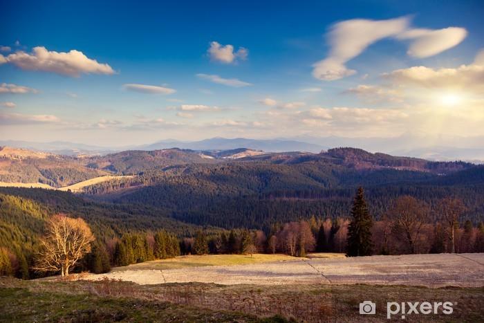 Nálepka Pixerstick Horská krajina - Roční období