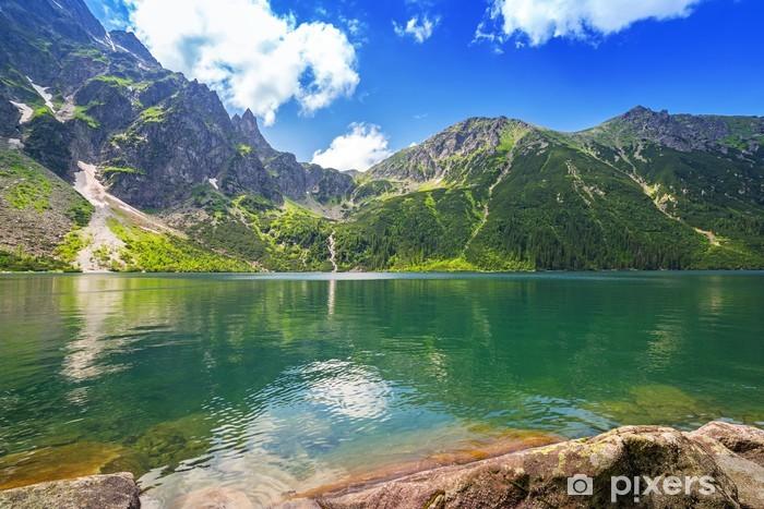 Eye of the Sea lake in Tatra mountains, Poland Vinyl Wall Mural - Themes