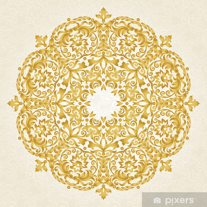 Vector ornament in Victorian style. Vinyl Wall Mural - Themes