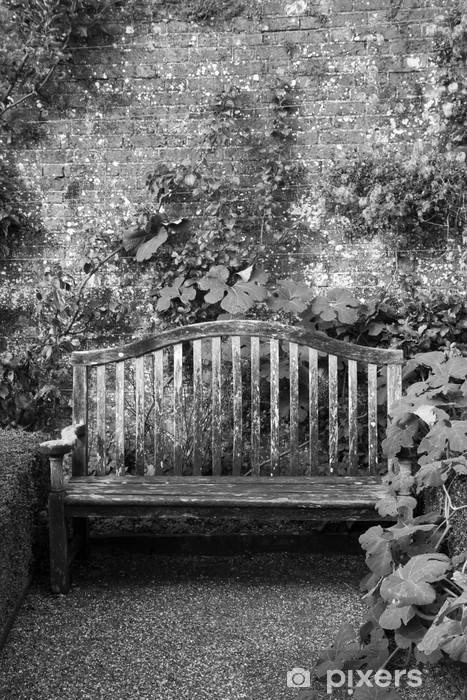 Bench in a garden Vinyl Wall Mural - Religion