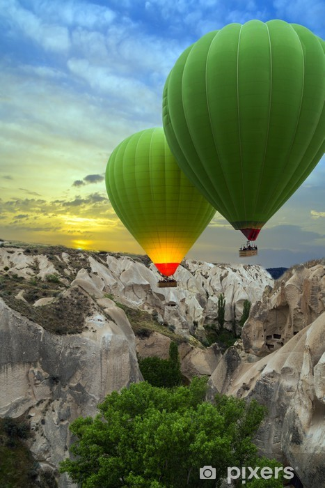 Hot Air Balloons Sunset Cappadocia Turkey Wall Mural Pixers We Live To Change