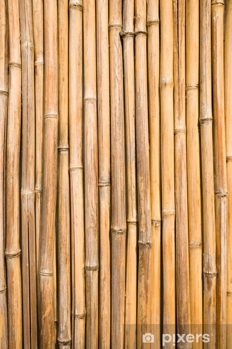 Nálepka Pixerstick Bambus stěna - Témata